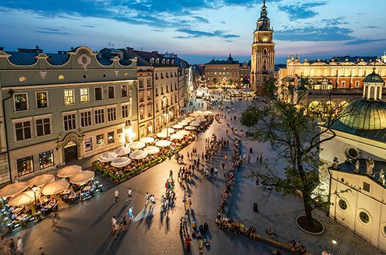 Krakow i Polen